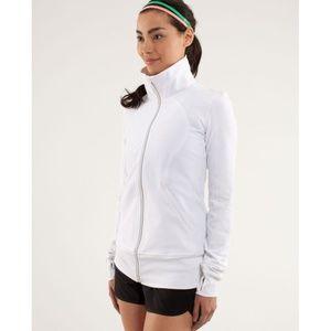 Lululemon Contempo Jacket White Zip-Up Stride Coat